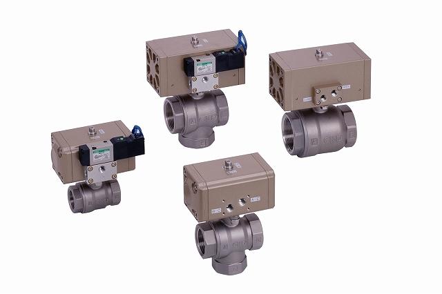 CKD コンパクトロータリバルブ CHB-X1-40-0C2-S-AC200V