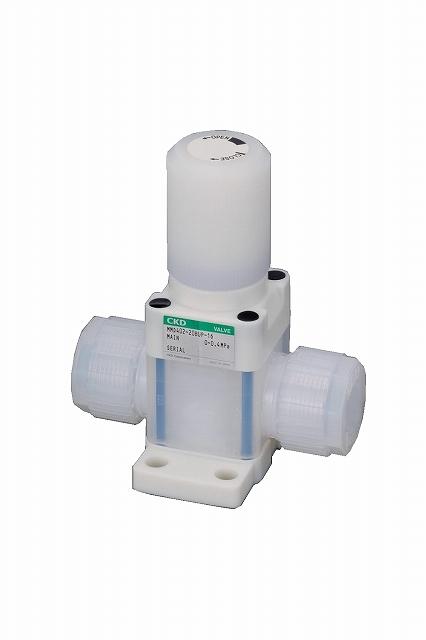 CKD 薬液用マニュアルバルブ ステンレスボディ MMD302-10BUR-8