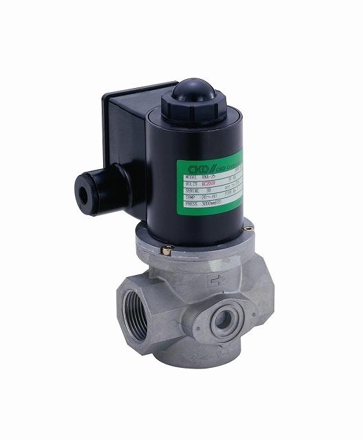 CKD ガス用遮断弁(スローオープンタイプ) VLA-25-AC200V