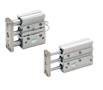 CKD ガイド付シリンダ すべり軸受 STG-M-25-100-T2V-R