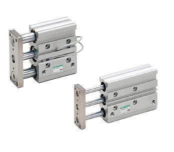 CKD ガイド付シリンダ すべり軸受 STG-M-50-200-T2V-R