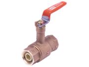 KITZ (キッツ) 10K キーパロイ (鉛フリー青銅) 管端防食コア付ボールバルブ (給油用コア・ロングネック・スタンダードボア形) TLNH 呼び径 1・1/2 (40A)