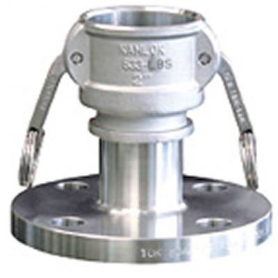 トヨックス カムロックカプラー フランジ付(標準品JIS10K相当品) ステンレス 20A 633-LBS