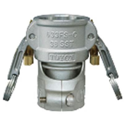トヨックス カプラー ツインロックタイプ(FSクランプ付) ステンレス 50A 633FS-CL-50