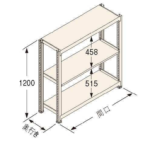 扶桑金属工業(株) 中量ラック Kタイプ150KG GSN-K1218A3R