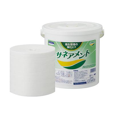 クレシア サネアメント ドライロールワイパー ホワイト400 60600 (400カット×12ロール) + 04460 (ディスペンサー2ヶ付)