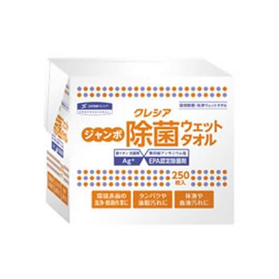 クレシア ジャンボ除菌ウェットタオル 詰め替え用 64135 6パック入 (1ケース)