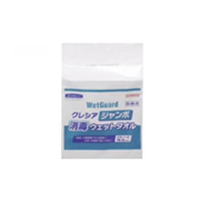 クレシア ジャンボ消毒ウェットタオル 詰め替え用 64115 (250枚×6パック)