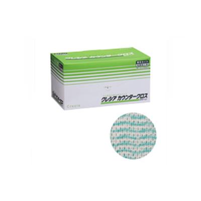 クレシア カウンタークロス 厚手タイプ グリーン 65312 (60枚×6BOX)