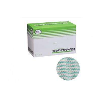 クレシア カウンタークロス 薄手タイプ グリーン 65412 (100枚×6BOX)