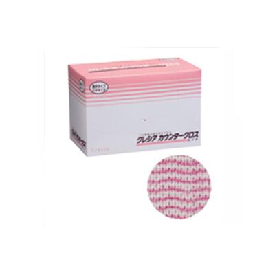 クレシア カウンタークロス 薄手タイプ ピンク 65422 (100枚×6BOX)