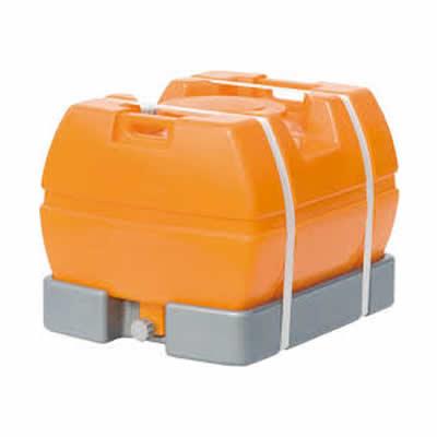 スイコー 完全液出し型ローリータンク スカット 500L オレンジ 【代金引換不可商品】