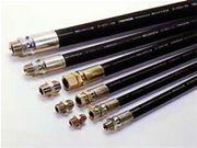 ハイドロリックホース 一般油圧配管用スリム耐摩耗ホース NSL-205k-6φ 金具01+04付 長さ 30m