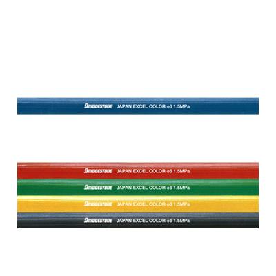 ブリヂストン ゴムホース エクセルカラーホース 青 8径×30m