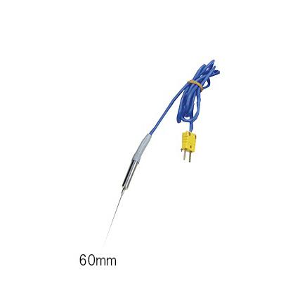3-4718-12 真空調理用芯温度計セット針状センサー60