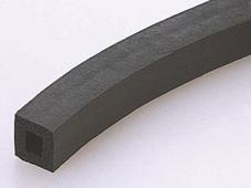 CRゴムスポンジ角中空角紐 10×10mm (50m巻)