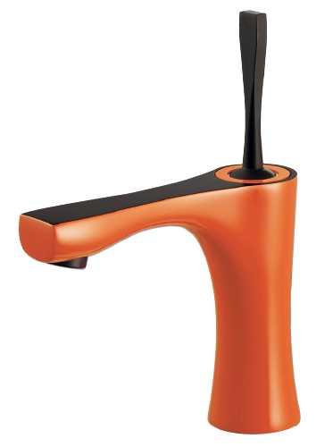 カクダイ シングルレバー混合栓(オレンジ) 183-259