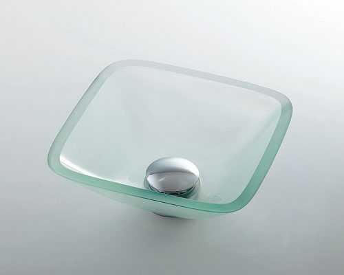 男女兼用 カクダイ ガラス角型手洗器 493-029-C:GAOS 店-エクステリア・ガーデンファニチャー