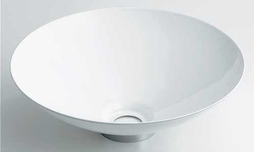 カクダイ 再入荷 直輸入品激安 予約販売 丸型手洗器 493-039-W ホワイト