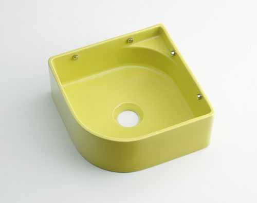 1年保証 カクダイ 壁掛手洗器 スピード対応 全国送料無料 イエローグリーン 493-048-YG