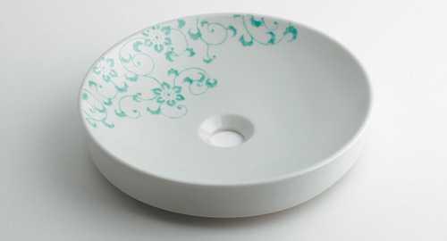 カクダイ 丸型手洗器//ペパーミント 493-097-GR