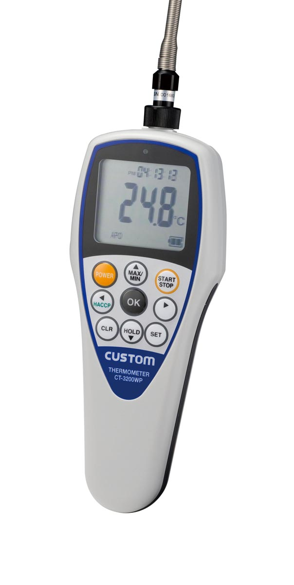 カスタム 防水型デジタル温度計(センサ付) CT-3300WP