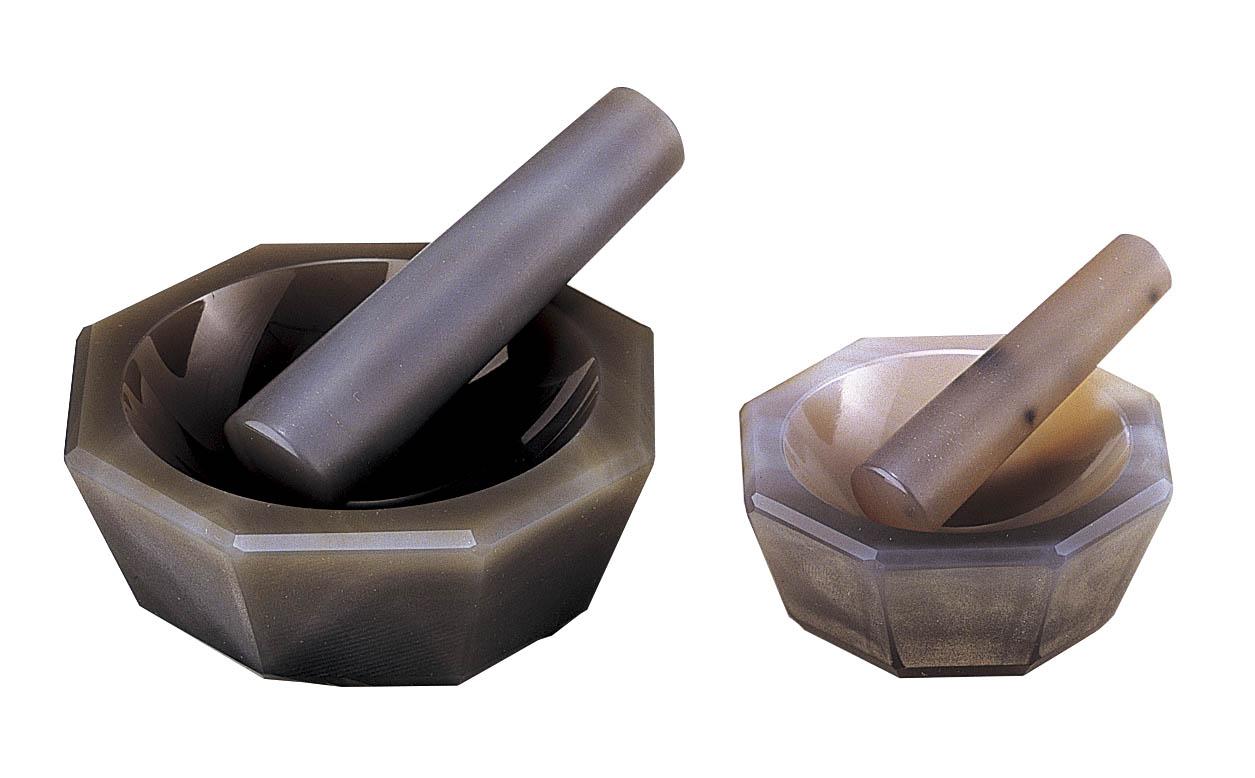 伊藤製作所 めのう乳鉢(標準型セット) 80×65×18mm