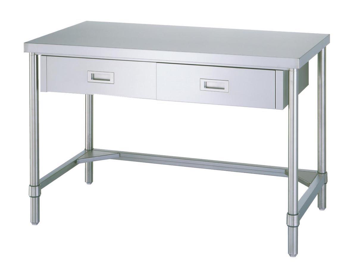 玄関先迄納品 ケニス ステンレス作業台(片面引出・三方枠) ADT-9060:GAOS 店-DIY・工具