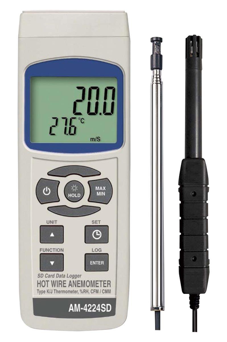 マザーツール デジタル熱線式風速・風量計 AM-4224SD