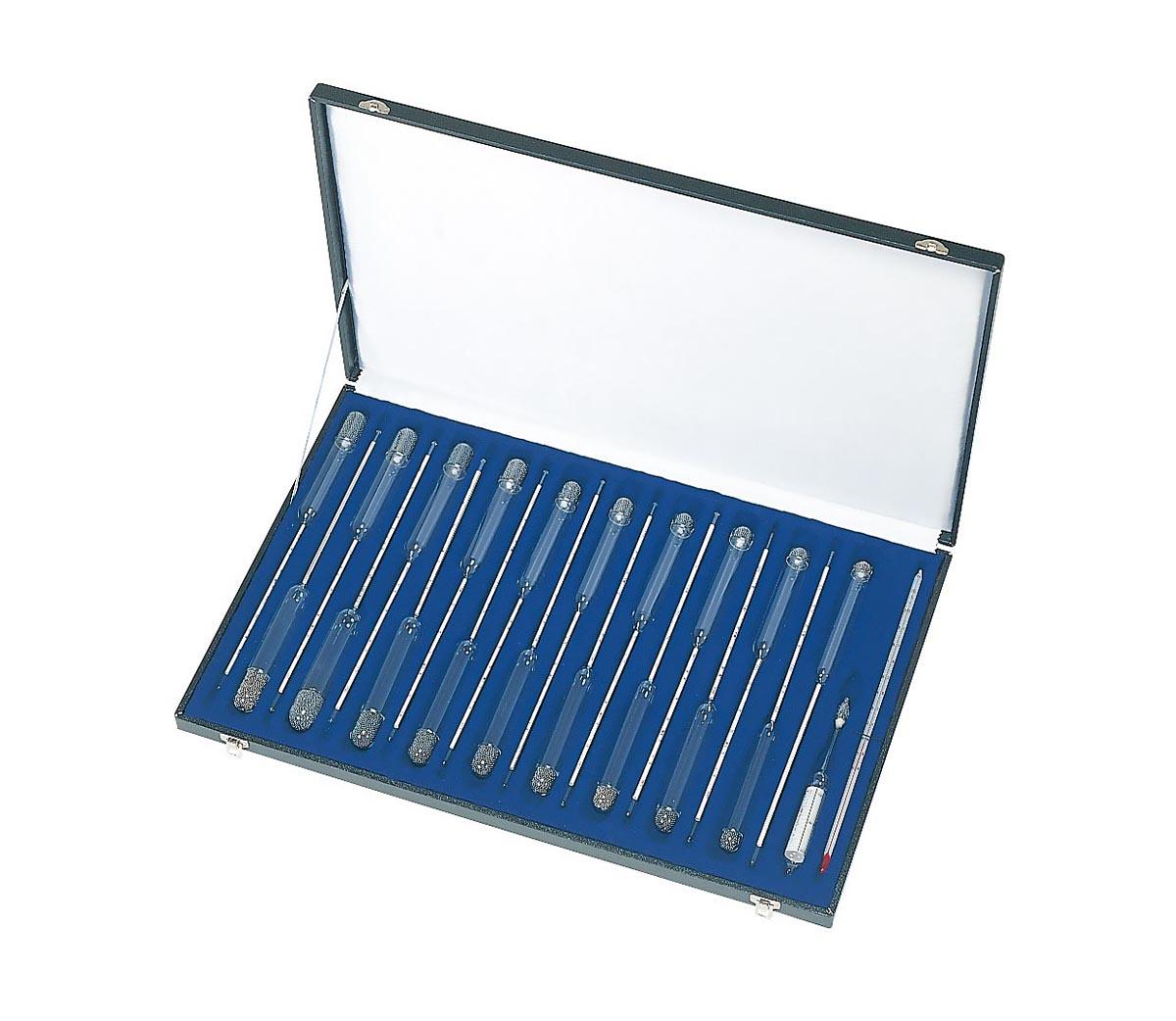 日本計量器工業 標準比重計 小型19本組(1セット・ケース入)