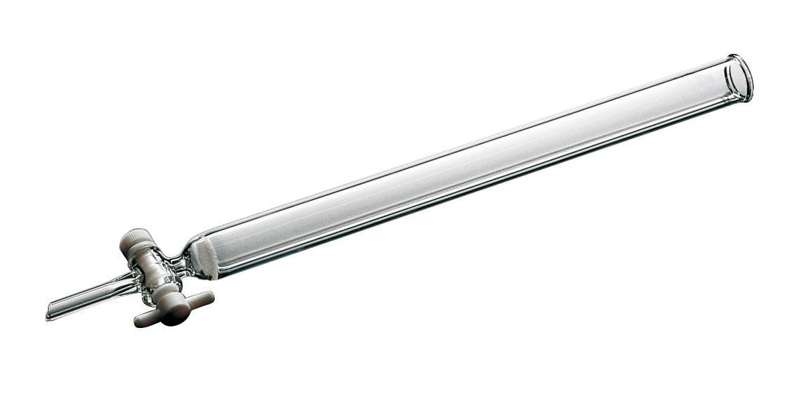 ケニス クロマトグラフ管 20×500mm フィルタ・PTFEコック付