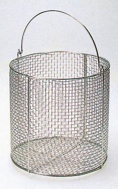 ステンレス丸型洗浄カゴ 特大  400φ×300Hmm