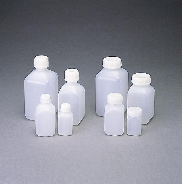 PE角型 広口瓶 500ml (75本入)