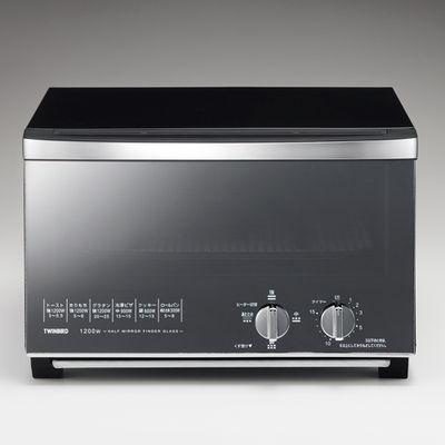 ミラーガラスオーブントースター TS-D047B