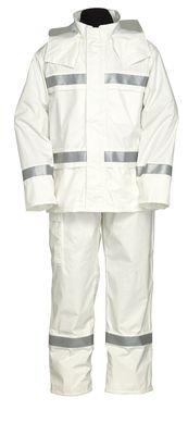 雨衣 ナダレスリフレクテイブス-ツ 4000 ホワイト L