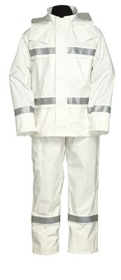 雨衣 ナダレスリフレクテイブス-ツ 4000 ホワイト 5L