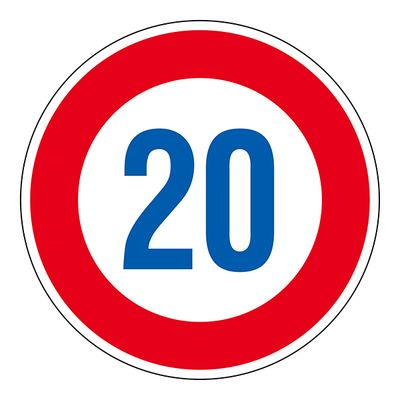 道路標識 道路323-20K(AL) 20 133673