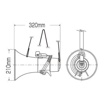 ショルダー型マイク メガホン-208  145006