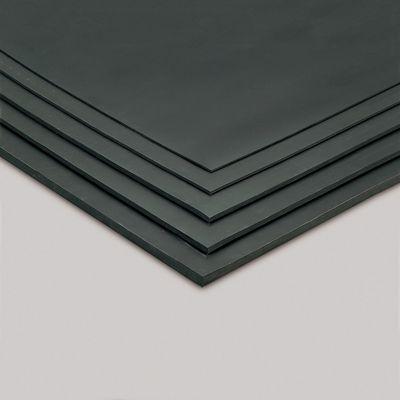 平ゴムマット 天然 5mm厚 黒 1m×10m MR1523107