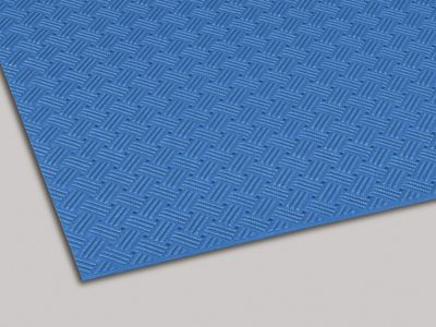 ダイヤマットグリッド 塩化ビニール 青 92cm×10m MR1590003