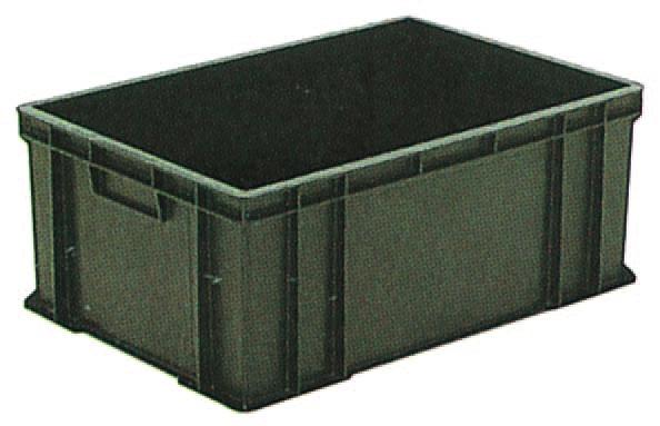 サンエレックナー サンボックス#56A  導電性PP 658mm×448mm×268mm ブラック