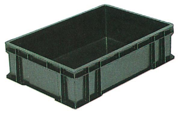 サンエレックナー サンボックス#56C  導電性PP 658mm×448mm×167mm ブラック