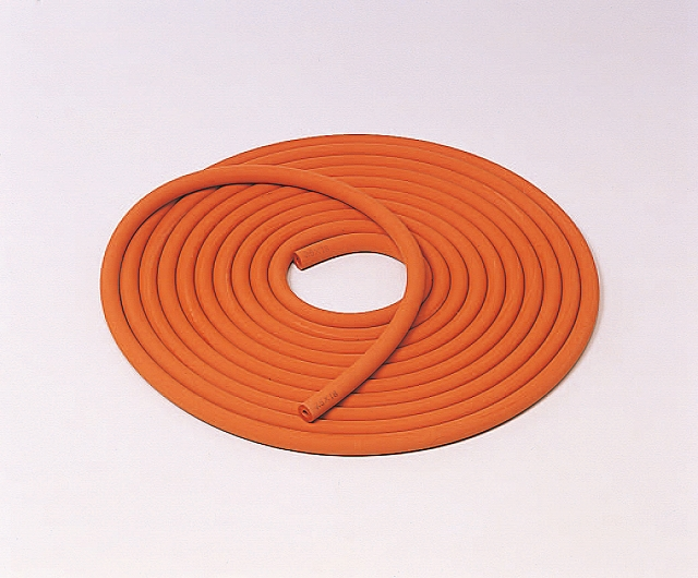 赤シリコーン長尺排気管 4.5×15mm (10m巻)