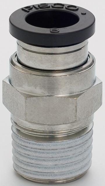 チューブフィッテング クリーンルーム用ティー PB 12-04-C 適用チューブ外径12 ネジR1/2 10ヶ入