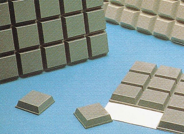 バンボンクッション SJ-5702 7.9φ×2.2Hmm 黒 (408入)