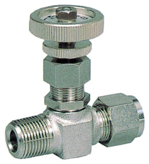 VHミニチュアバルブハーフ型(計装用)VH-03-3 適用チューブ外径φ3/8 ネジ径3/8