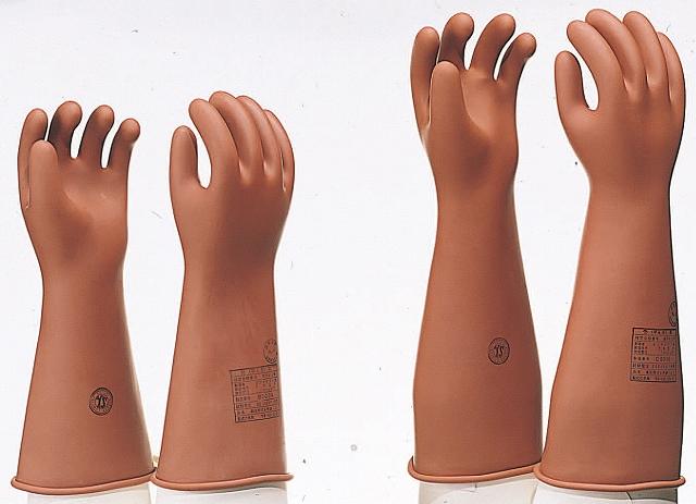 高圧用ゴム手袋 YS-101-28-2 中 全長405mm