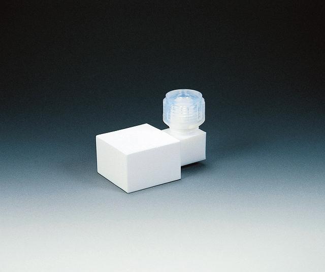 PTFE フィルター接続角タイプ 適用外径 8φ フィルター部寸法 30×30×20mm