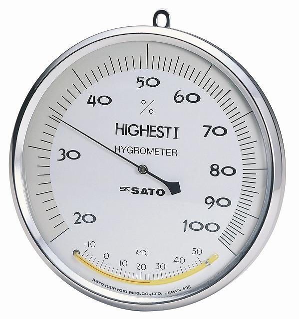 ハイエスト型湿度計(温度計付) No.7540-00