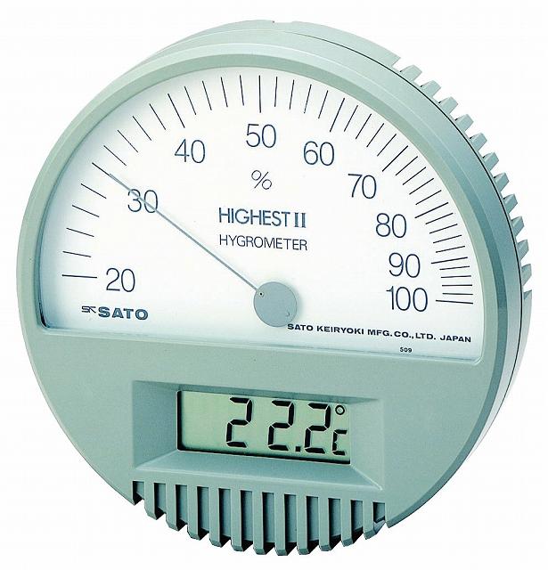 ハイエスト型湿度計(温度計付) No.7542-00